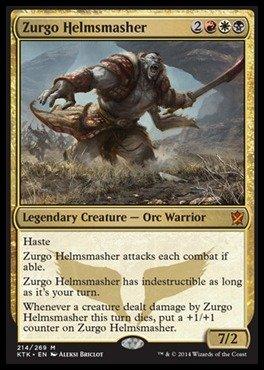 Magic The Gathering - Zurgo Helmsmasher - Khans of Tarkir