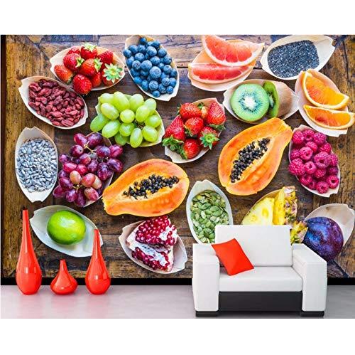 Pmhc Een verscheidenheid aan fruit, levensmiddelen, kunst, behang, woonkamer, tv, wand, slaapkamer, keuken, café, restaurant, bar, muur, personaliseerbaar, 3D 120 x 100 cm.