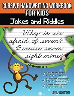 Cursive Handwriting Workbook for Kids: Jokes and Riddles