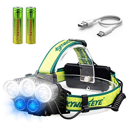 Head Torch – Victoper Super Bright Headlight LED Rechargeable with 5...