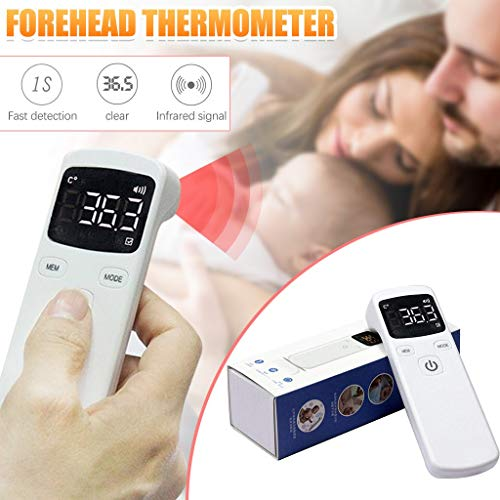 DWQuee Infrarot-Digitalthermometar Non Contact Digitales, Forehead_Body_Thermometer, Home Digitalfür Kinder,Baby,Erwachsenen mit LCD Display Hintergrundbeleuchtung