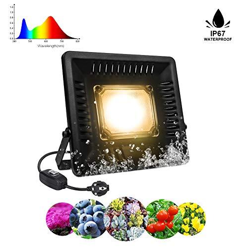 Lámpara Planta 50W COB LED Espectro Completo Crece Lluminación de Pl