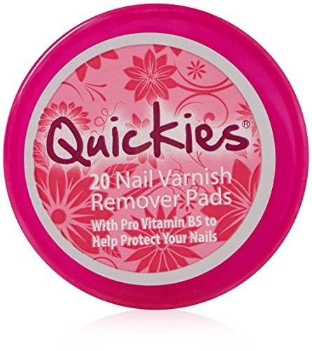 Quickies Convenience Nail Varnish Remover Pads Pack 20