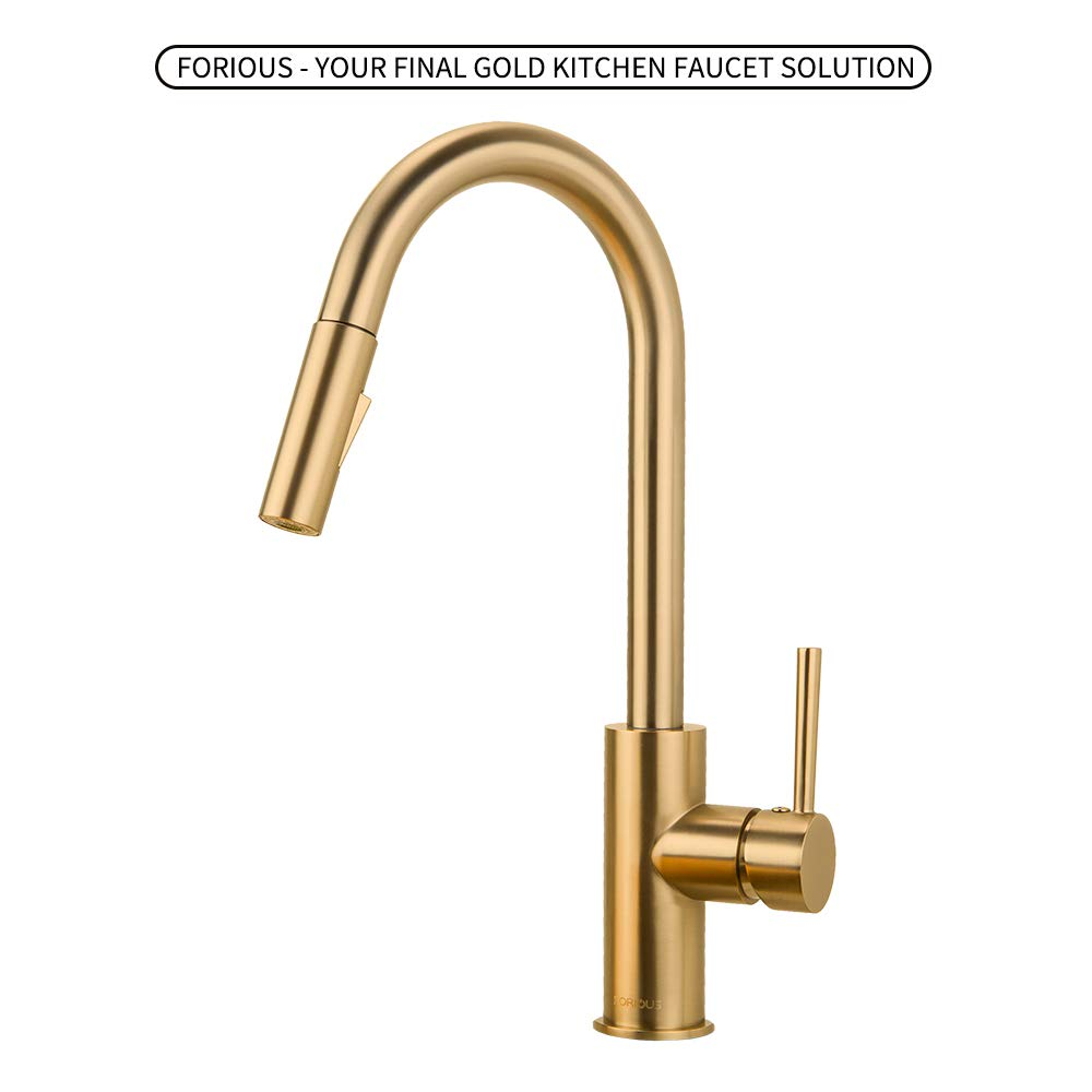 Kitchen Sprayer Faucets Champagne FORIOUS