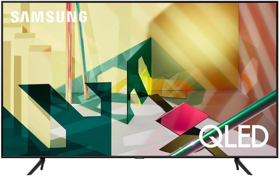 SAMSUNG 65-inch Class QLED Q70T Series - 4K UHD Dual LED Quantum HDR Smart TV with Alexa Built-in (QN65Q70TAFXZA, 2020 Model) (Renewed)