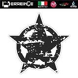 erreinge Sticker Stella Militare Army Adesivo Sagomato in PVC per Decalcomania Parete Murale Auto Moto Casco Camper Laptop - cm 12