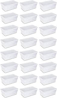 Sterilite 16428012 6 Quart White Storage Box (Pack of 24)