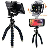 ChargerCity MegaGrab2 Flexible Tripod Periscope Selfie Kit for Apple iPhone 11 XR XS MAX PRO X 8 Plus Samsung Galaxy Note S9 S10 / LG G6 V30 (Holder can Expand up to 3.6 inches)