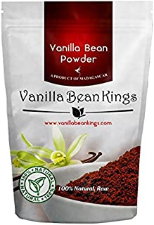 Vanilla Bean Powder - Naturral Raw Ground Vanilla Beans - Unsweetened, Non GMO, Gluten-Free, Freshly Ground Before Packaging for Keto Paleo - 4 oz