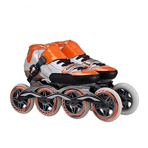 Buy TTYY Adult/Children Inline Skates Roller-Skating Pu-Wheel Straight Street-Trick Upper Aluminum-B...