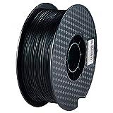ZXC De 3D Pla Filamento Pluma Recargas 1,75 mm PrecisióN ± 0,02 100% Ninguna Burbuja De 1 kg 2,2 Libras Sin Olores Y FáCil De Pelar Filamento for La MayoríA De Impre(Color:Negro)