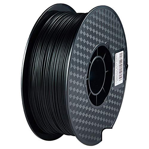 ZXC QualitäTs Pla Filament Feder 3D Filament Refills 1,75 mm Genauigkeit ± 0,02 100% Nein Blase 1 kg 2.2lb Kein Geruch Und Leicht Zu SchäLen Filament for Die Meisten 3D-Drucker(Color:schwarz)