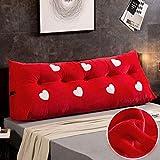 Kopfteilkissen Bedside soft package Multi-size Optional Bett Kopfkissen Dreieck Doppel Sofa Große...