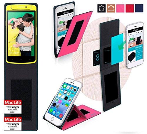 reboon Hülle für Oppo N1 Mini Tasche Cover Case Bumper | Pink | Testsieger