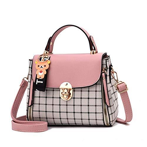 LUUT Mode Schultertasche Damen Nähte Handtasche Kariert Platz Messenger Bag Kawaii Ledertasche Lässig Shopper Citytasche