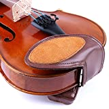 Meech Sheepskin Violin Chin Rest Cover with Shoulder Pads Violin Accessories Suitable for Children Violin Shoulder Rest 3/4-4/4