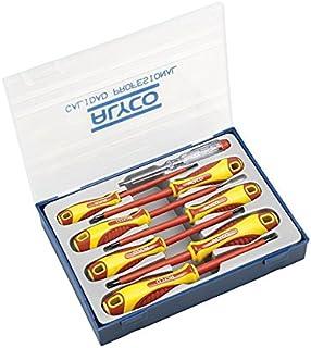 Alyco 119335 - Juego 8 destornilladores aislados VDE en estuche plastico