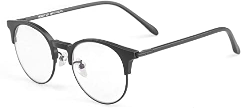 Blue Light Filter Computer Gaming Glasses Acetate Round Frame Relieve Headaches-Dry eyes Unisex +0.0 eyeglasses