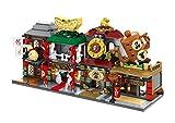 Modbrix City Bausteine Chinatown Häuserreihe Straßenzug, 4 Häuser in 1 Set