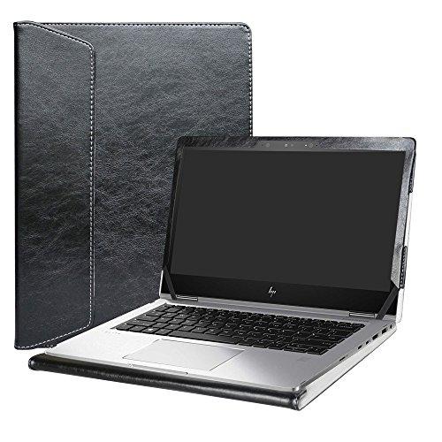 Alapmk Specialmente Progettato PU Custodia Protettiva in Pelle per 13.3  HP EliteBook x360 1030 G2 Notebook,Nero