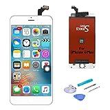 SANKA Ecran LCD pour iPhone 6 Plus, 5.5', Retina Tactile Écran Vitre Display Digitizer Kit de Réparation Complet - Blanc (Free Outils Inclus)