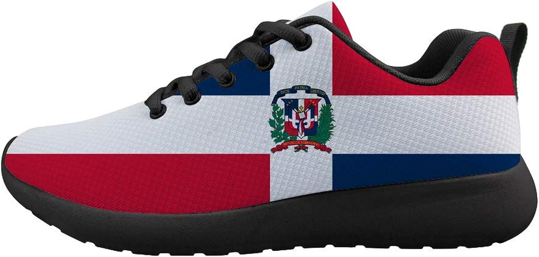 Owaheson Cushioning Sneaker Trail Running shoes Mens Womens Dominica Flag