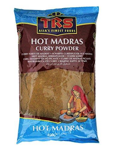 TRS Scharfes Curry Pulver aus MADRAS 400g Currypulver