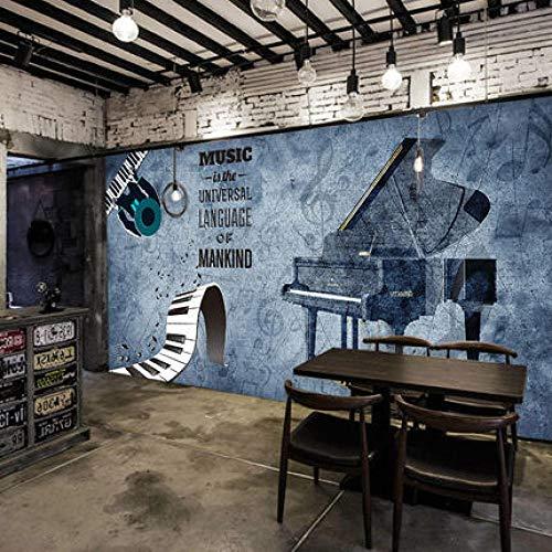 Musik Klassenzimmer Hintergrund Wallpaper Piano Studio Training Class Wanddekoration Malerei Kreative Musiknoten Piano Room Wallpaper 400(L) x280(H) cm