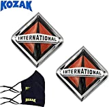 Longroadaccess International Semi Truck Accessories Front Hood Grille Emblem Logo 3550901C2 Prostar Durastar Lonestar Workstar Transtar for All Series - 2 Pieces Plus 2X Face Mask
