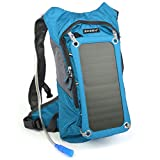Solar Hydration Backpack 7 Watts Solar Phone Charger with 2 Liters Bladder