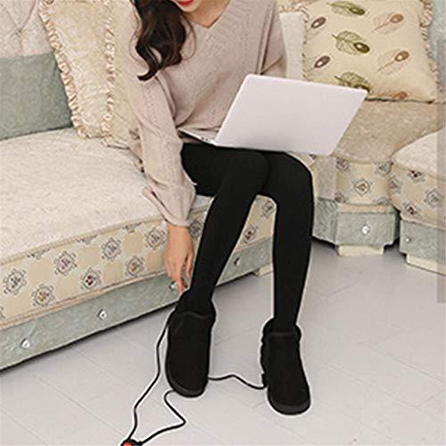 ZYZYGXQ Heizschuhe USB Elektrische Heizschuhe Beheizter Plüschschuh, Rutschfester Fußwärmer mit intelligenter Temperatur, Winterschuhe für kaltes Wetter, Frauen