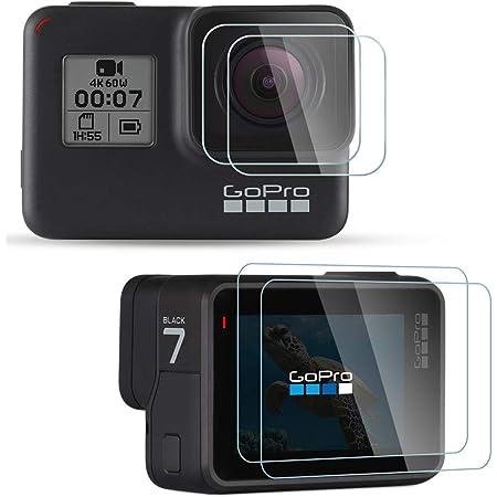 Set de 2 Cristal Clair /Écran Protecteur Bruni Protecteur d/écran Compatible avec GoPro Hero9 Black Film Protecteur