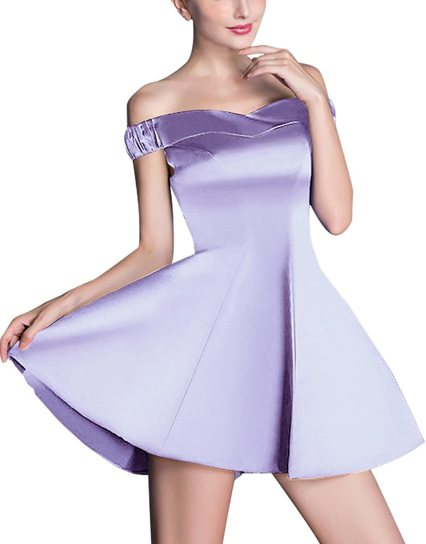 Elegant ALine VNeck Satin Short Homecoming Dresses For Girls