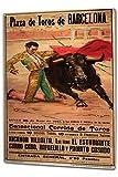 Lotusworld - Cartel de Metal de 20 x 30 cm, diseño de la agencia de Viajes de Barcelona