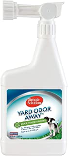 Simple Solution Yard Odor Away   Outdoor Odor Eliminator   Pet Odor Remover for Lawn and Yard   Hose Spray Attachment Ideal for Multi-Surface Outdoor Use   32 Ounces