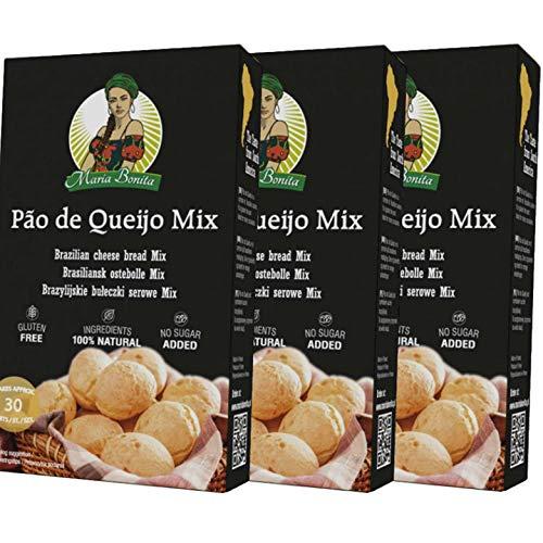 Pao de queijo 3x400 g|| Cheese bread 3x400 g|| Pan de queso brasileño 3x400g || Sin gluten || Sin aditivos || Rápido y fácil de hacer