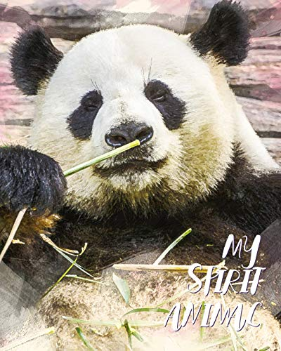 My Spirit Animal: Panda - Lined Notebook, Diary, Track, Log & Journal - Cute Gift for Boys, Girls, Teens, Men, Women Who Love Bears (8'x10' 120 Pages)
