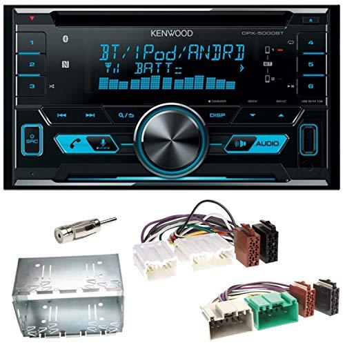 Kenwood DPX-5000BT Autoradio mit Bluetooth Freisprecheinrichtung CD USB MP3 AUX In Einbauset für Volvo S40 V40 850