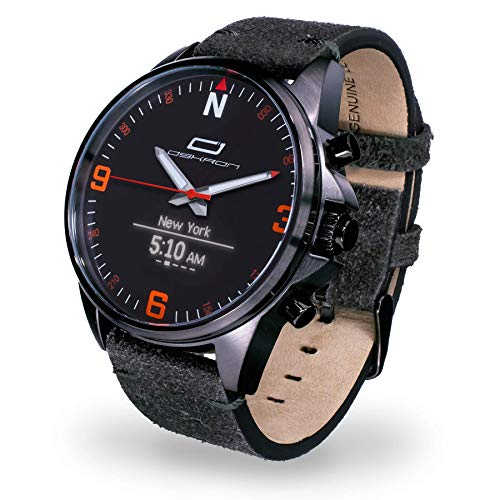 Oskron Gear Herrenschmuckuhr mit Smartwatch Funktionen 007-anthrazit