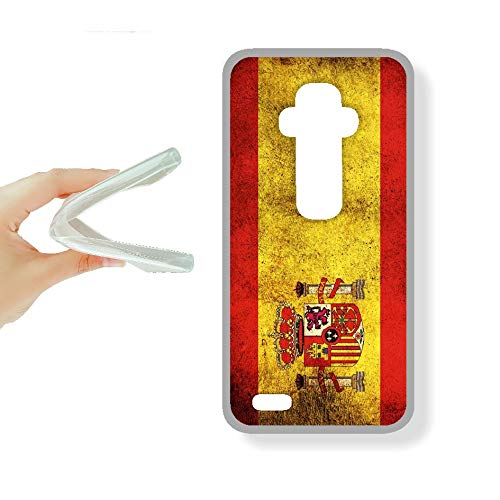 SUPER STICKER LG G3 Mini - Funda Carcasa Gel Flexible, con Dibujo Original, Ref: Bandera Espana