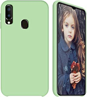 GKK Designed for Samsung Galaxy A20 Case - Liquid Silicone Case + Soft Flannel Lining + Comfortable Touch (Mint Green)