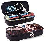 Estuche Escolar de Gran Capacidad, Bolsa de Lápiz Portable Estuche Organizador para Material Papelería con Cremallera Doble Jibaku Shounen Hanako-Kun