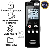 Best Digital Voice Recorders - 16GB Voice Recorder TOOBOM 1536kbps Digital Voice Activated Review