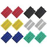 YWSHF 12PCS 170 tie-Points Mini Breadboard kit for Prototype Shield,Solderless Prototype PCB Board,6 Color Breadboard Set