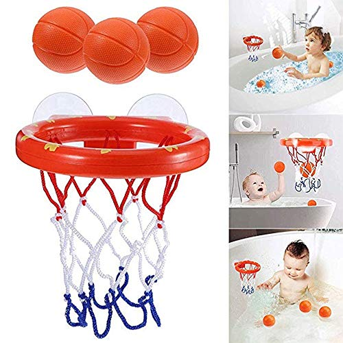 LPing Spaß Bad Basketball Hoop & Balls Spielset für kleine Baby Bad Spielzeug Kreative Badewanne Shooting Spiel für Kinder Saugnäpfe,Kind Baby Geschenk