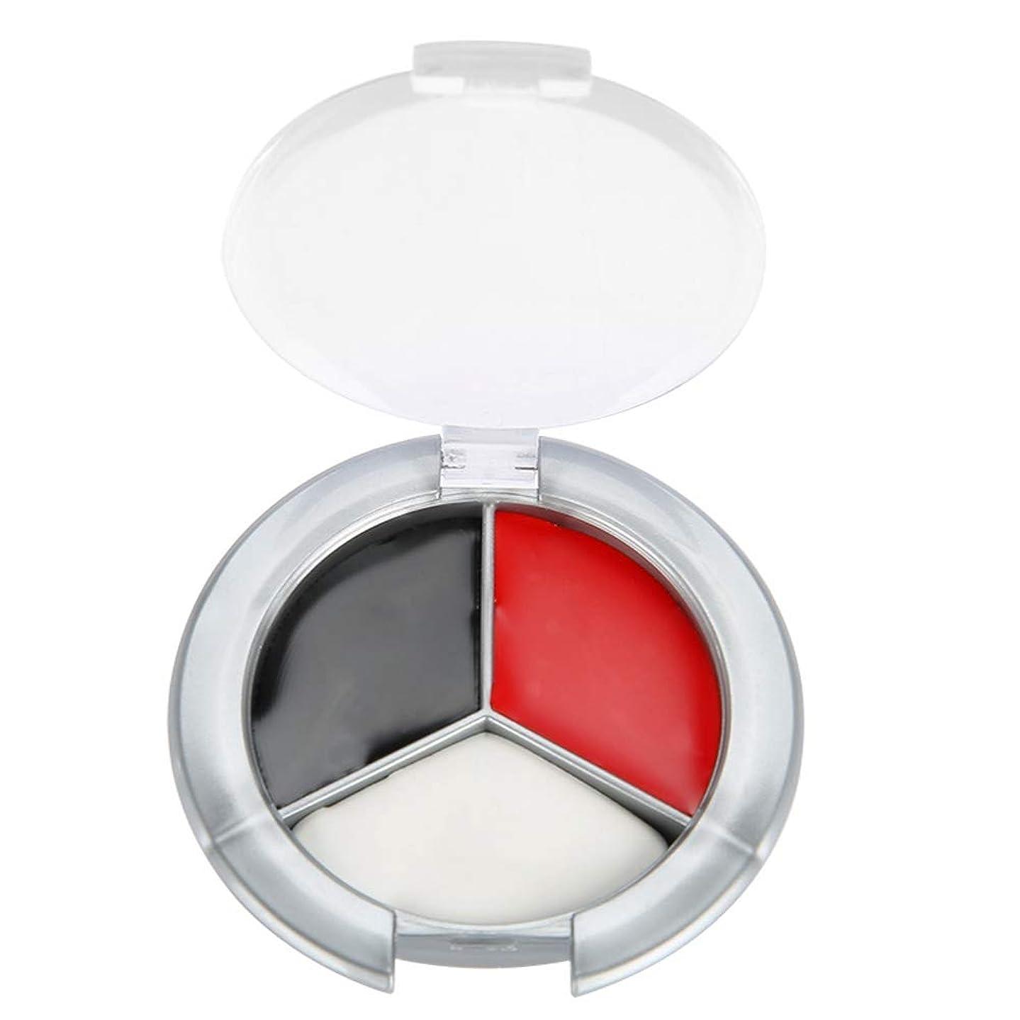 しみほんのシマウマハロウィンメイクアップフェイスペイント油、3色プロフェッショナルフェイスボディペイント油絵アートイースターに最適、テーマパーティー、コスプレ、ファンシードレスボール、ステージパフォーマンス(赤、黒、白の3色ペイント)