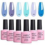 AIMEILI Kit de Esmalte Semipermanente Para Uñas Esmaltes de Uñas Esmaltes en Gel Uñas UV LED Pintauñas Permanente Set de Regalo Soak Off Manicura Colores De La Mezcla Set 6 X 10ml - Set 32