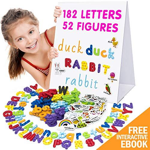 X-bet MAGNET Alphabet Magnets - Magnetic Letters - ABC Magnets - 78 Foam Letters - 26 Kids Magnetic Numbers - Dry Erase Board for Kids - Fridge Toddler Magnets for Kids