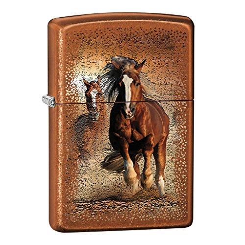 Zippo Feuerzeug 60002474 PL WILD Horse Benzinfeuerzeug, Messing, braun, 1 x 3,5 x 5,5 cm