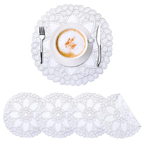 GENNISSY Round Silver Placemats Set of 6 Now $8.00